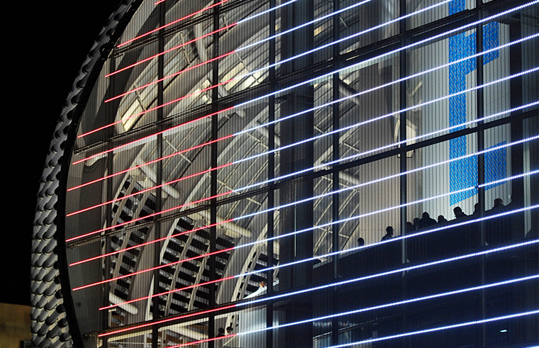 70,000 LEDS ON THE ANIMATED WALL SPACE