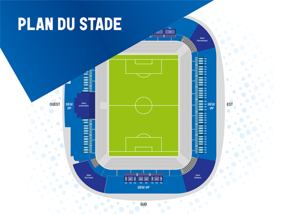 The Pierre Mauroy Stadium plan spaces